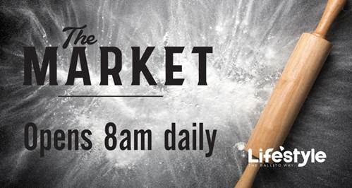 THE MARKET OPENS 8am DAILY