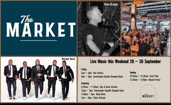 MUSIC @ THE MARKET –28TH SEPTEMBER – 30TH SEPTEMBER