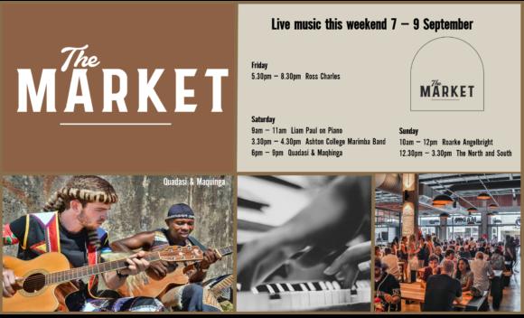 MUSIC @ THE MARKET –7TH SEPTEMBER – 9TH SEPTEMBER