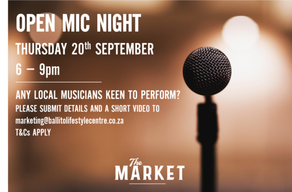 OPEN MIC NIGHT – 20 SEPTEMBER 2018