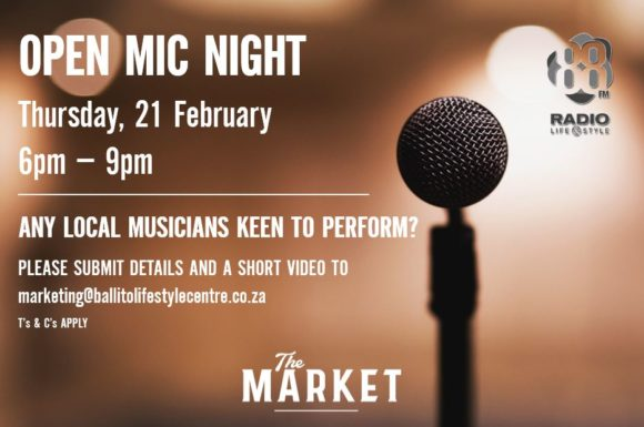 OPEN MIC NIGHT – 21 FEBRUARY 2019