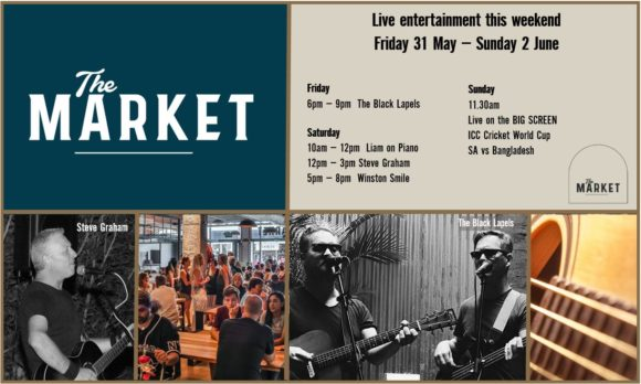 MUSIC @ THE MARKET – 31st MAY – 1st JUNE