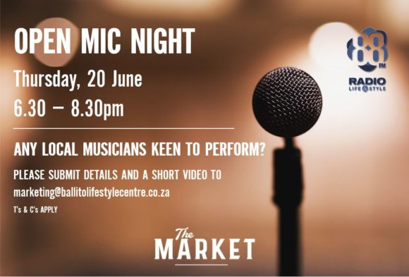 OPEN MIC NIGHT – 20 JUNE 2019
