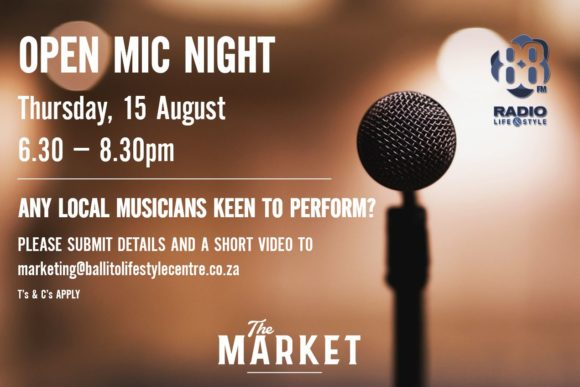 OPEN MIC NIGHT – 15 AUGUST 2019