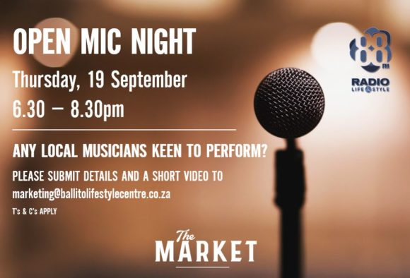 OPEN MIC NIGHT – 19 SEPTEMBER 2019