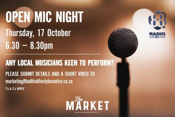 OPEN MIC NIGHT – 17 OCTOBER 2019