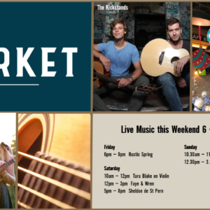 MUSIC @ THE MARKET –  6TH – 8TH DECEMBER