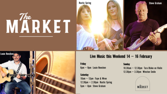 MUSIC @ THE MARKET – 14TH – 16TH FEBRUARY