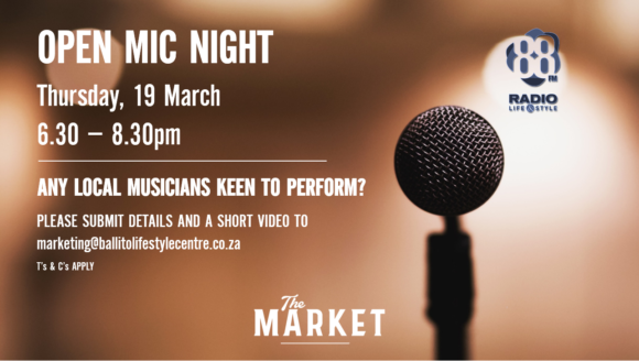 OPEN MIC NIGHT – 19 MARCH
