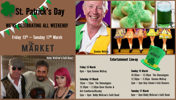 MUSIC @ THE MARKET – 13TH MARCH – 17TH MARCH