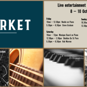 MUSIC @ THE MARKET – 8 – 10 OCTOBER